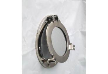 """Aluminum Porthole Mirror 9"""""""