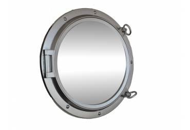 "24"" Silver Ship's Porthole Mirror"