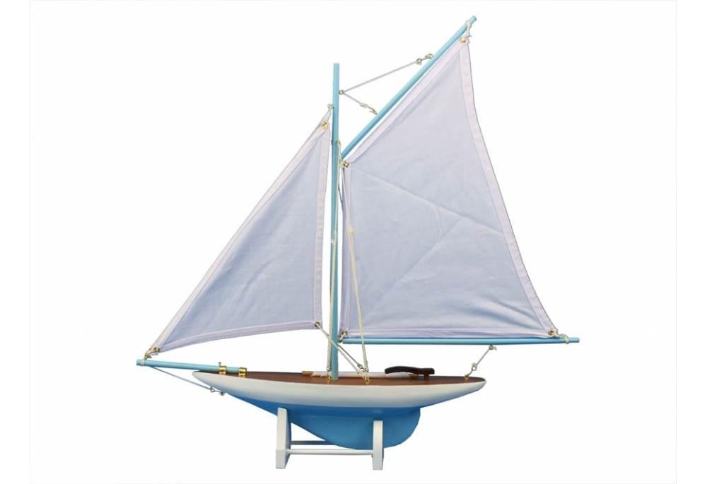 Wedding Centerpiece Decorative Wooden Sailboat Model Contender