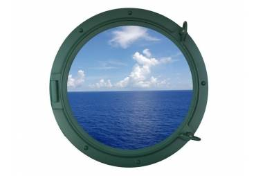 """Green Ship Porthole Window 24"""""""