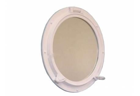 """Gloss White Finish Porthole Mirror 24"""""""