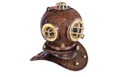 "Iron Embossed Diver's Helmet 10"""