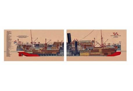 Cross Section 1926 Mail Boat Indrapoera