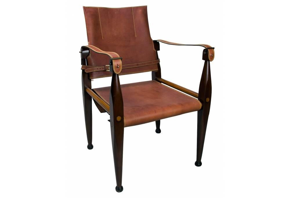 Campaign Safari Leather Chair