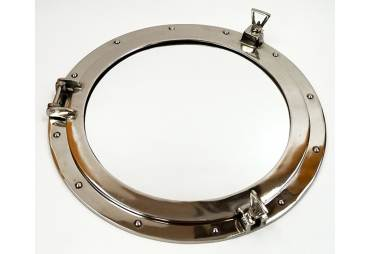"Porthole Mirror Aluminum Chrome Finish 20"" Nautical Wall Decor"