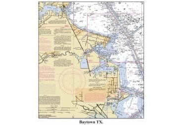 Baytown, TexasDecorative Nautical Chart