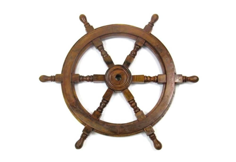 Classic Wooden Decorative Ship Wheel, Helm
