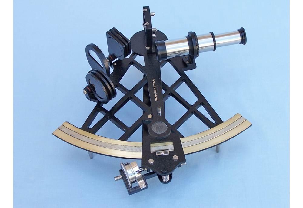 Black Micrometer Sextant In Wooden Case 14 Quot