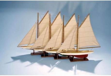 Decorative Sailboats Mini Pond Yachts, Set 4