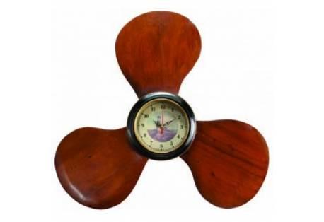 "Wooden Propeller Clock 22"""