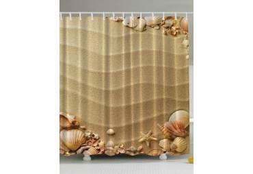 Beach Sand and Sea Shells Shower Curtain