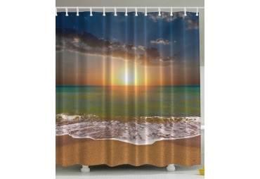 Sunset on the Beach Nautical Themed Curtain