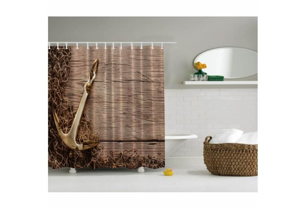 Wood Shower Curtain Part - 20: GoNautical