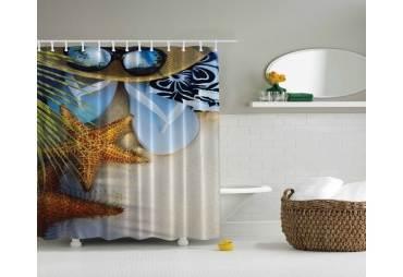 Tropical Beach Theme Shower Curtain