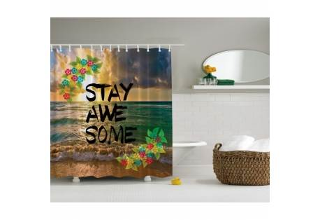 Stay Awesome Shower Curtain