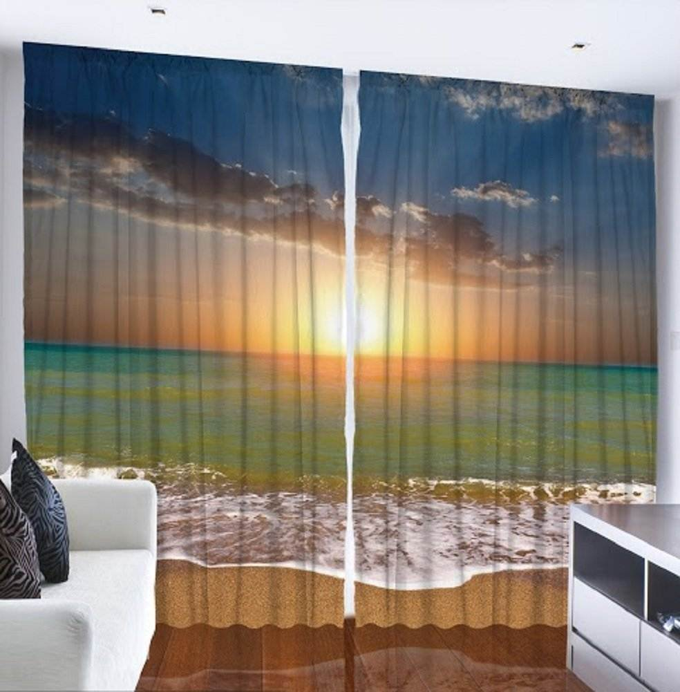 Sunset at the Beach Room Curtain