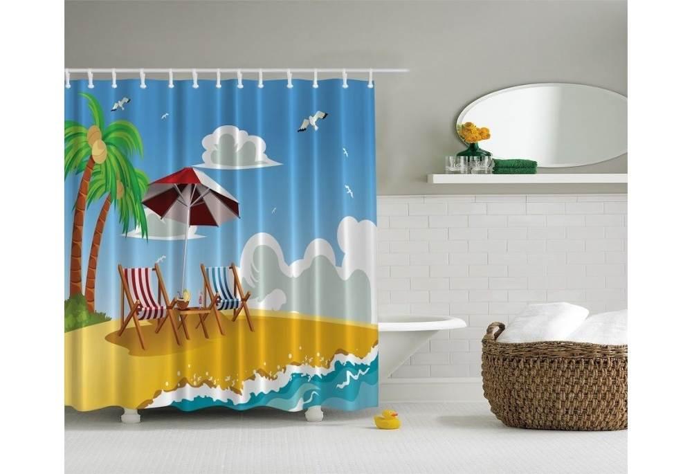 Shower Curtains Beach Theme Soozone