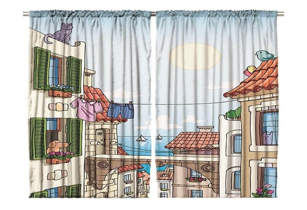 Kids Room Window Decor Curtain Panel Set Of 2