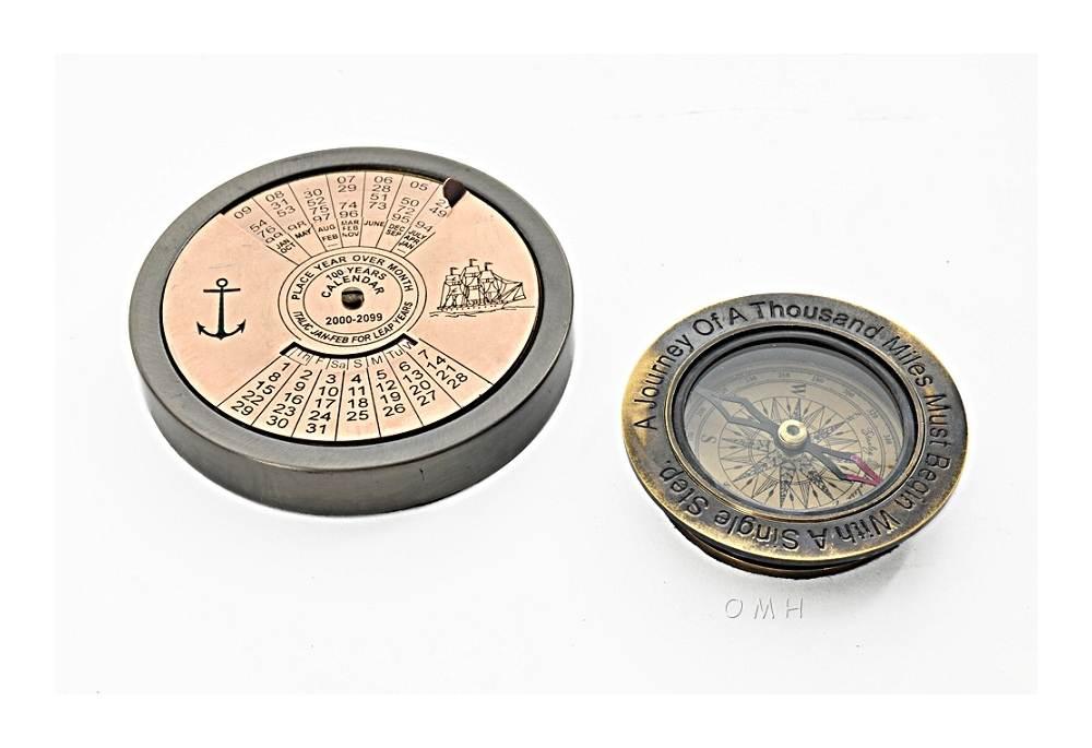 100 Year Calendar Amp Compass Set Of 2