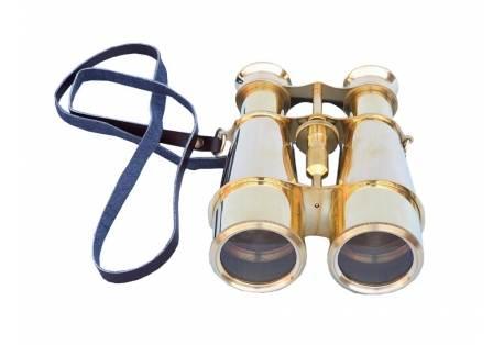 """Captain's Solid Brass Binoculars 6"""""""