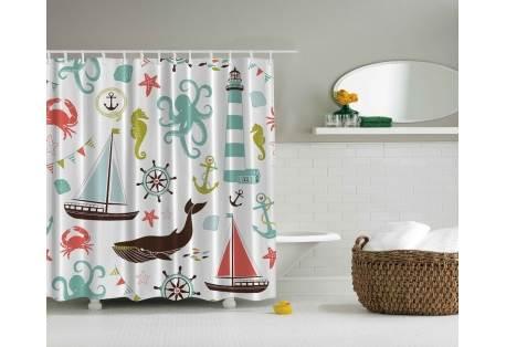 Sea Life Nautical Shower Curtain