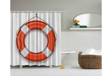 Life Ring Shower Curtain Beach Decor