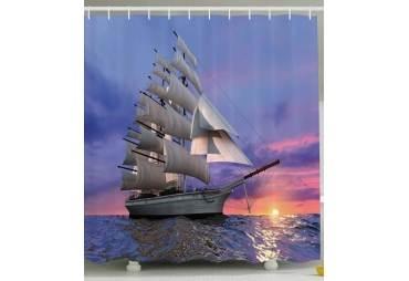 Tall Ship Under Sail Shower Curtain