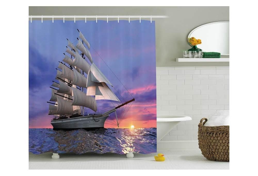 Tall Ship Under Sail Shower Curtain - Ship Under Sail Shower Curtain