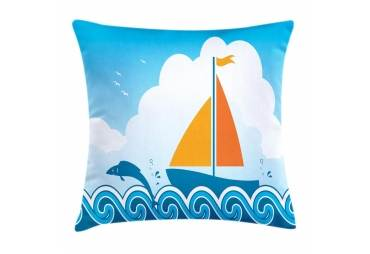 Sailboat Nautical Theme Throw Pillow