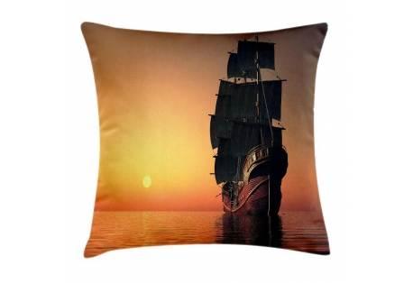 Tall Ship Under Sail Decorative Pillow