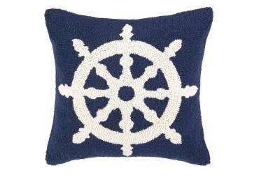 Ship Wheel Hand Made Hook Pillow