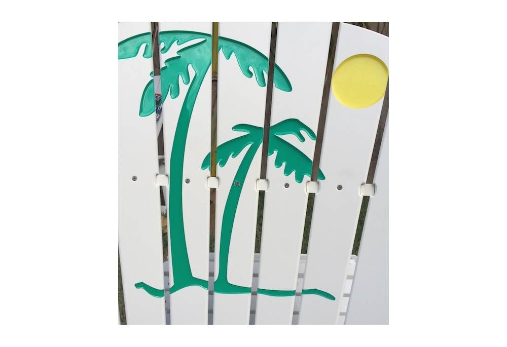 Palm Tree And Sun Rocking Chair For Pool Deck Patio