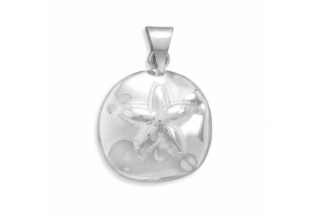 Sand Dollar silver Pendant