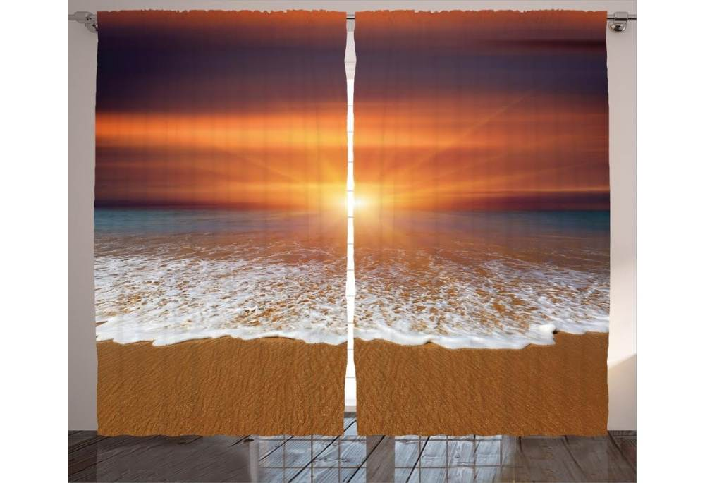 apollo beach sunrise curtain panel