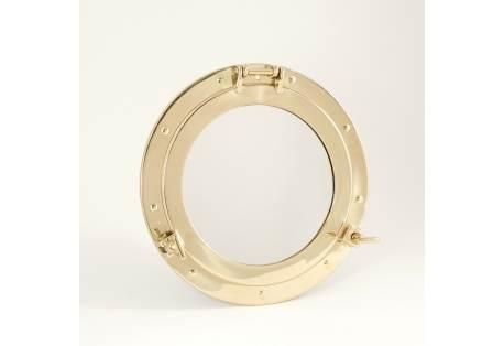 "Brass Porthole Mirror 11 1/2"""