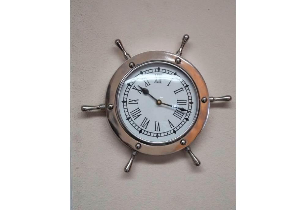 Aluminum Ship Wheel Clock 12 Quot Nautical Wall Decor