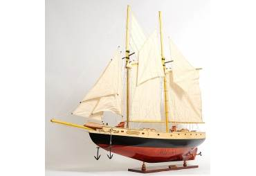 Large Schooner Bluenose II Hand Made Yacht Model