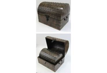 Pirate Nested Wooden Treasure Chest Set of 3