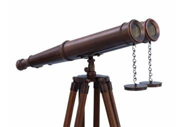 """Floor Standing Nautical Bronzed Binoculars 62"""""""