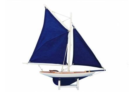Decorative Wooden Sailboat Model Contender