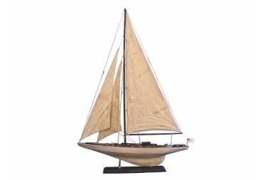 """Wooden Vintage Intrepid Limited Model Sailboat Decoration 35"""""""