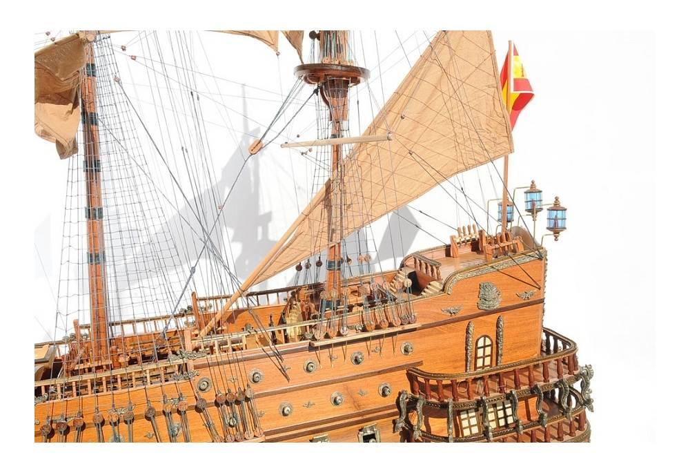 Xvii Century Very Large Tall Ship Model San Felipe 7 3