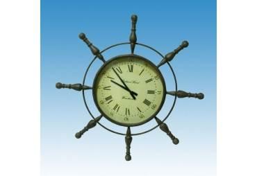 "Metal Ship Wheel Clock 39"""