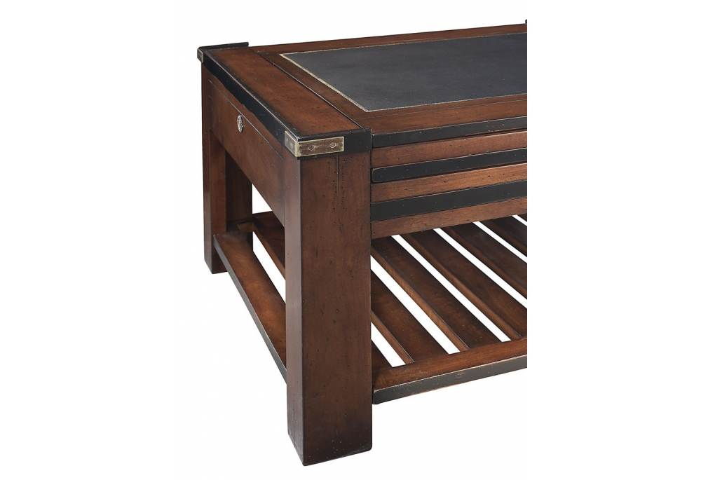 Authentic Models Game Coffee Table Antiqued Black