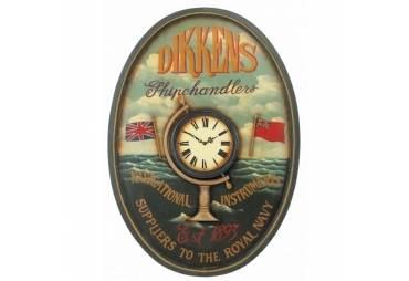 """Clock 40"""" Wooden Ship Chandler's"""