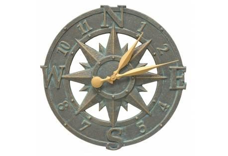 Compass Rose Clock Indoor/Outdoor