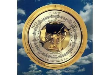 Solid Brass Cape Cod Marine Barometer