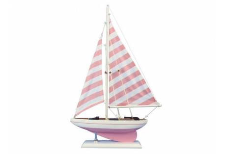 Decorative Pink Sailboat Model