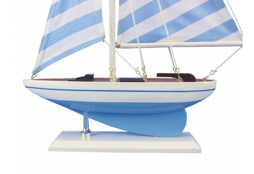 Decorative Blue Sailboat Wedding Center Piece Baby Shower Fift