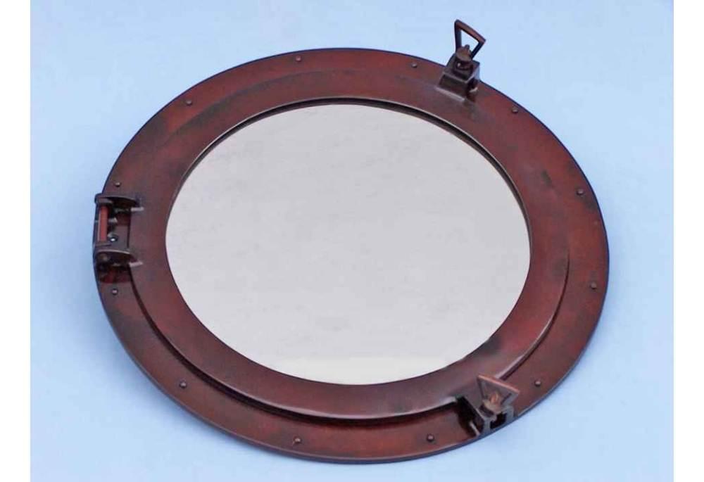 Antique Copper Decorative Ship S Porthole Mirror 24 Quot